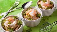 Фото рецепта Фаршированные шампиньоны с креветками