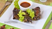 Фото рецепта Долма из говядины с мятой