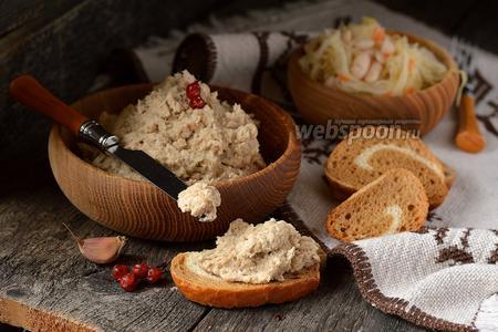 Фото рецепта Паштет из белой фасоли и копчёной скумбрии