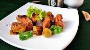 Фото рецепта Мясо тушёное с брюссельской капустой и оливками