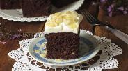 Фото рецепта Шоколадный пирог с тыквой и миндалём