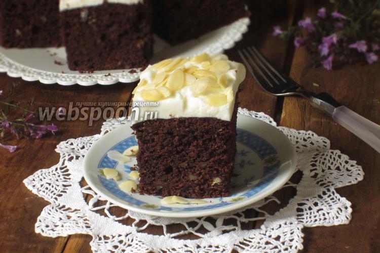 Фото Шоколадный пирог с тыквой и миндалём