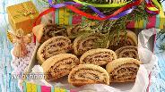 Фото рецепта Печенье «Ореховый серпантин»