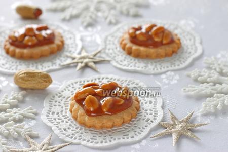 Печенье ореховое с карамелью