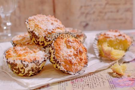 Фото рецепта Кокосово-сырные пирожные