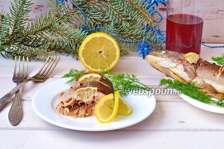 Запечённая форель с горчицей и лимоном