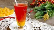 Фото рецепта Чай из клюквы с апельсином и гвоздикой
