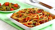 Фото рецепта Макароны с мясом и овощами