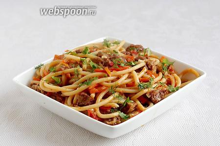 При подаче посыпать блюдо зеленью. Приятного аппетита!