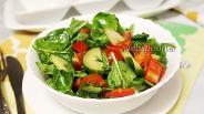 Фото рецепта Салат со шпинатом «Разгрузочный»