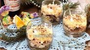 Фото рецепта Ореховый салат с кальмарами