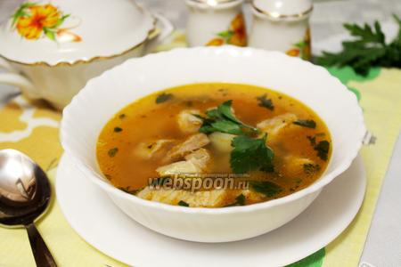 Фасолевый мясной суп