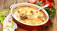 Фото рецепта Рулетики из куриного филе с креветками
