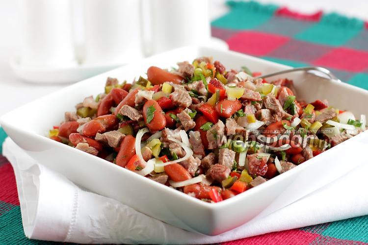 Фото Салат с говядиной и фасолью