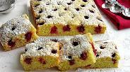 Фото рецепта Вишнёво-миндальный пирог