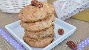 Фото рецепта Овсяное печенье с орехами пекан и пряничным сахаром