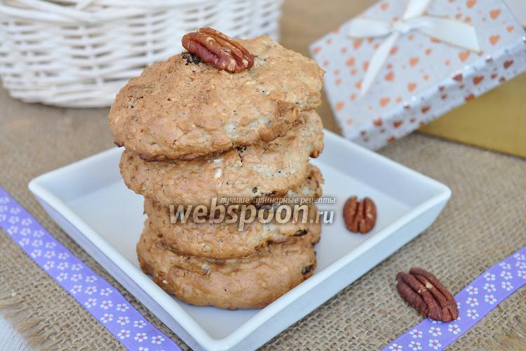 Фото Овсяное печенье с орехами пекан и пряничным сахаром