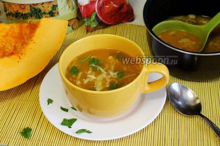 Пикантный сырно-тыквенный суп-пюре