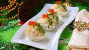 Фото рецепта Яйца фаршированные печенью трески