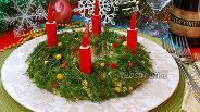 Фото рецепта Салат «Рождественский венок»