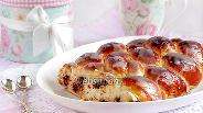 Фото рецепта Плетёнка с орехами и шоколадом