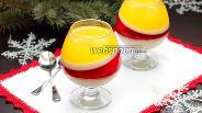 Фото рецепта Бананово-апельсиновое желе