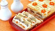 Фото рецепта Террин из куриного фарша с грибами и морковью