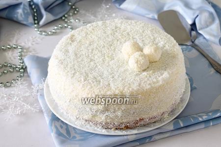 Торт «Снежная сказка» в мультиварке