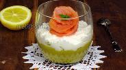 Фото рецепта Мусс из авокадо и рикотты с лососем