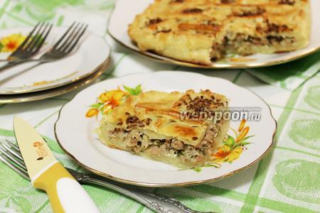 Румынский пирог с мясом