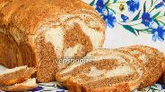 Фото рецепта Мраморный пшенично-ржаной хлеб