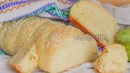 Фото рецепта Кабачковый хлеб с чесноком и кунжутом