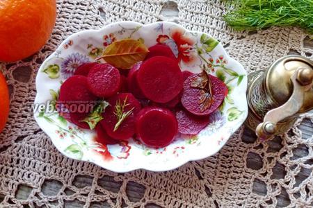 Фото рецепта Маринованная свёкла с ароматом апельсина