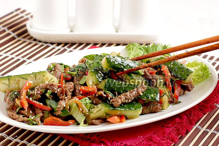 Фото Огурцы с мясом по-корейски