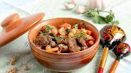 Фото рецепта Говядина с овощами и горохом нут