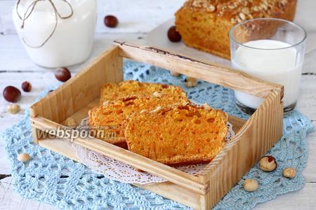 Морковный кекс с фундуком