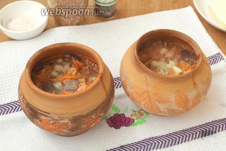 Гречка с печенью и овощами в горшочке – кулинарный рецепт