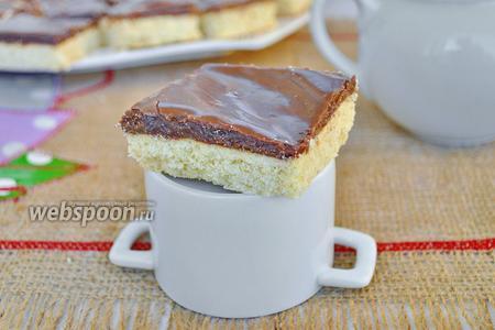 Домашнее печенье с шоколадной карамелью