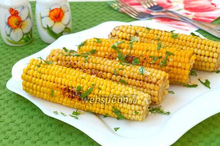 Жареная кукуруза на сковороде