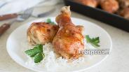 Фото рецепта Куриные голени в глазури