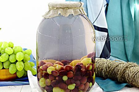 Фото рецепта Компот из винограда на зиму
