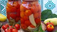 Фото рецепта Маринованные помидоры черри с перцем