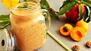 Фото рецепта Милкшейк абрикосово-персиковый