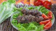 Фото рецепта Шашлык из говядины с киви