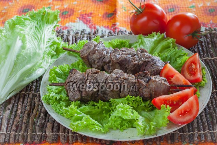 Фото Шашлык из говядины с киви