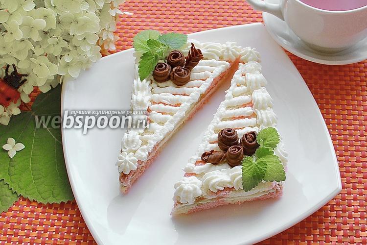 Фото Бисквитное пирожное «Нежность»