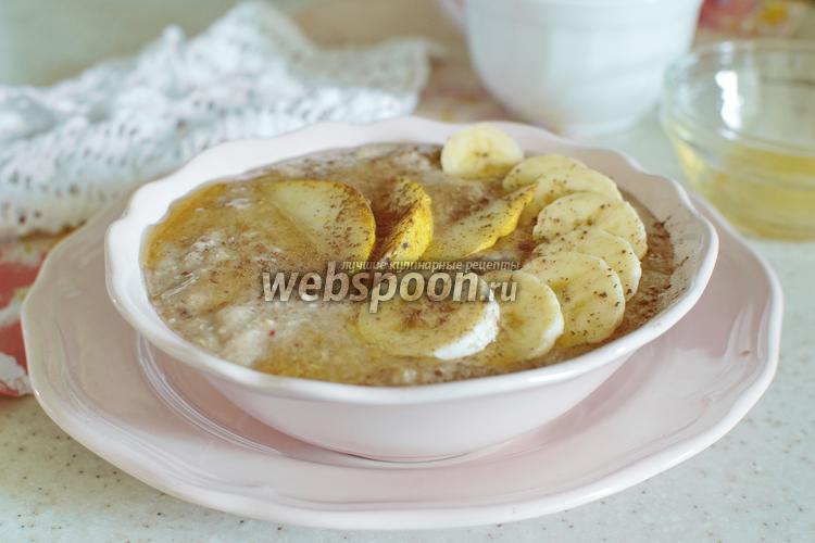 Фото Овсянка с бананом и грушей