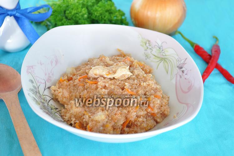 Фото Пшеничная каша с мясом