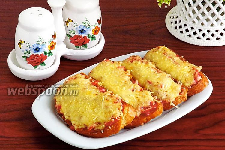 Фото Горячие бутерброды с перцем и острой начинкой