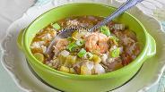 Фото рецепта Креольское гумбо с бамией и креветками